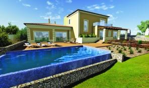 Villa en construction V3 avec vue golf à Lagoa