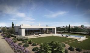 Villa V4 de plain pied en construction avec vue mer et garage à Lagos