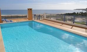 Appartement T3 avec vue mer et garage à Meia Praia