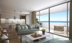Penthouse de luxe T3 en construction avec vue mer à Lagos