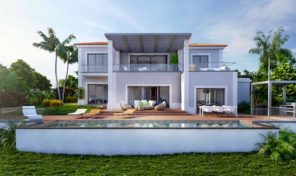 Villa en construction V4 avec garage proche commodités à Lagoa