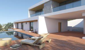 Villa V4 en construction avec vue golf en Algarve centre