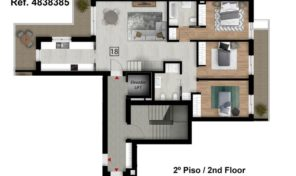 Appartement T3 avec garage et toit terrasse à Tavira
