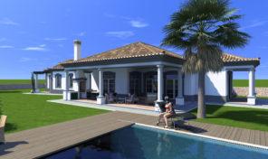 Villa V4 phase finale de construction à Boliqueime