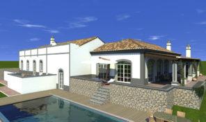 Villa V4 phase finale de construction proche Boliqueime